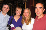 Christine Jurasinski-Sanchez and her husband Carlos with Sandy Horning and Brendan Kane