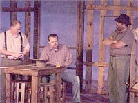 "Dave Blose (right) in ""Of Mice & Men,"" 2002"