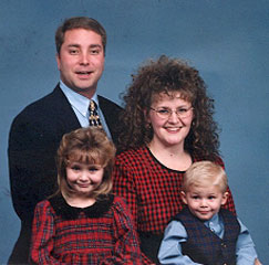 Cathy and her family, picture taken in 1997