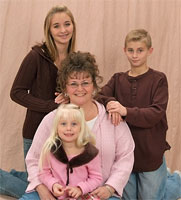 Cathy and the kids, 2007