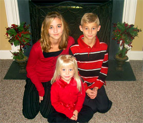 Sarah, Gracelyn (front) and Corey Rowley - November 2006