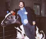 Dave and a fake cow