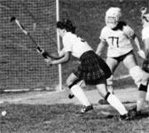 Diane Churan - stick above the head, isn't that a penalty?