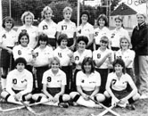 1985 Varsity Field Hockey featuring the mother of twin egg babies, Diane Churan!