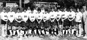 1986 Varsity Field Hockey team starring Diane Churan!