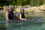 The Kauffmans and a dolphin