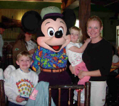 Kelly and her cute kids at Disneyworld!