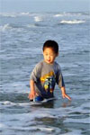 Joshua playing in the ocean, 2006