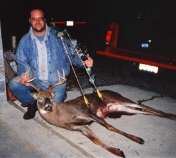8-Point Buck shot with a bow by Frank LaPearl, Lori's husband.