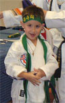 As of August 2006, Landon was already a brown belt