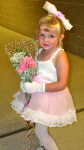 Megan at her dance recital, 2002