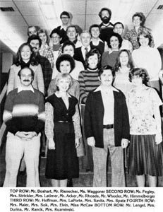 The 1981 Stoney Creek Middle School Faculty