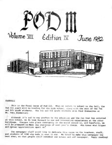 Pod III, the 1982 Student Newspaper