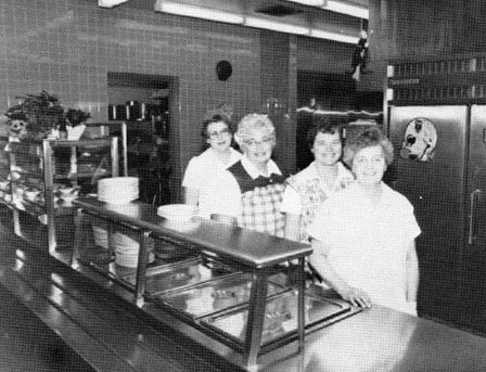 Mrs. Hinnershitz, Mrs. Quinter, Mrs. Berger, Mrs. McLaughlin - Cafeteria Personnel
