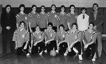 1985 Boys Varsity Basketball team starring the Petersen brothers!