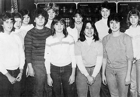 The 1984 Girls Bowling Team featuring Mindy Snyder!!!!