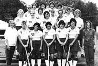 1985 Varsity Field Hockey featuring more people with their shoes not in the picture (who was our photographer?!)