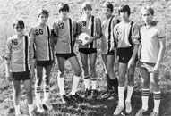 1984 JV Soccer team featuring...a lot of bad haircuts.