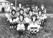 1985 Varsity Softball team featuring mother of Chris Mal's egg babies, Diane Churan