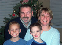 Steve Monroe and family, Christmas 2004