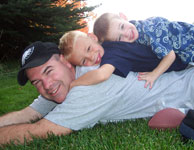 Steve and his two boys, Noah and Nathanael