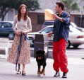 "Gwyneth Paltrow, a dog and Ben Affleck in ""Bounce"""