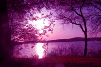 Sunset over Lake Ontelaunee, Spring 2003