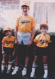 Mike, Drew and Marc...Drew was way ahead of his time as far as socks go.