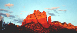 Red Rocks of Sedona at sunset become REALLY red!